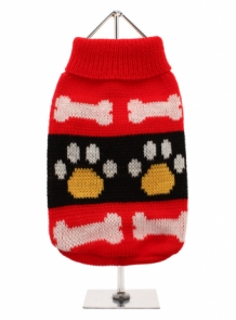 Red Paws Sweater XS